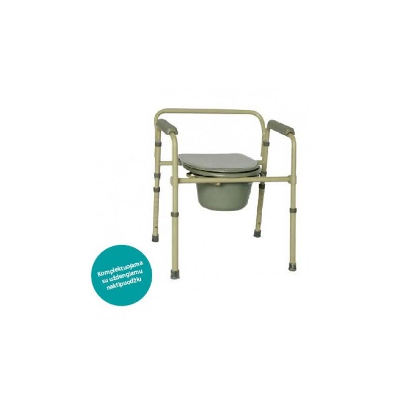 Kėdė su uždengiamu naktipuodžiu